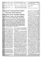 Fleitmann et al. - 2003 - Holocene Forcing of the Indian Monsoon Recorded in a Stalagmite from Southern Oman